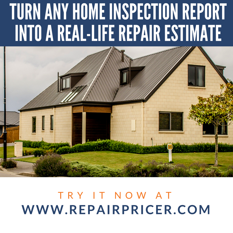 RepairPricer com - Helping you negotiate after a home inspection